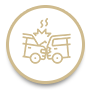 automobile accident icon